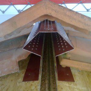 Sottocolmo in metallo verniciato per tetti ventilati